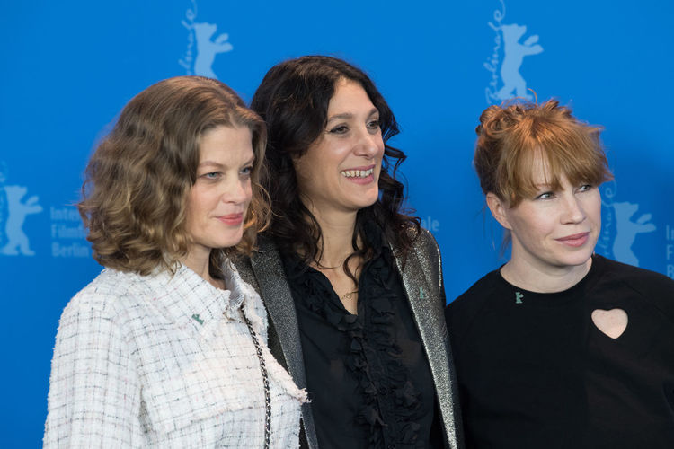 Berlin, Germany - February 19, 2018: Marie Baeumer, Emily Atef and Birgit Minichmayr pose at the '3 Days in Quiberon' (3 Tage in Quiberon) photo call at 68th Berlinale Film Festival 2018 Birgit Minichmayr Emily Atef Famous Marie Baeumer Photocall Premiere Woman Adult Berlinale Berlinale 2018 Berlinale Festival Berlinale2018 Berlinale68 People Photo Call Popular Portrait Pose Posing Posing For The Camera Smiling Women