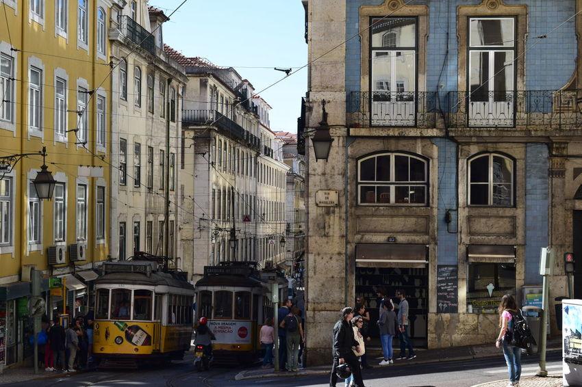 Cable Cars Cable Railway City Lisboa Portugal Architecture Balcony Lisboa Lisbon Lissabon People Street Urban Windows Yellow
