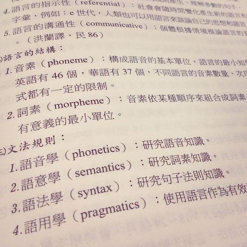 有種再度回到3年前修語言學時的錯覺