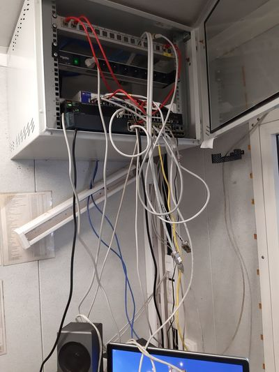 Low angle view of cables