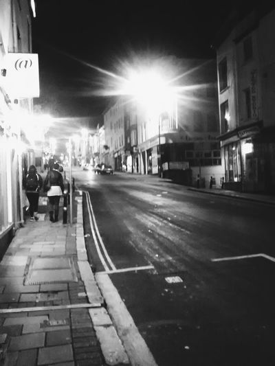 Monochrome Blackandwhite EyeEm Best Shots - Black + White Exeter Fore Street on a Sunday night...