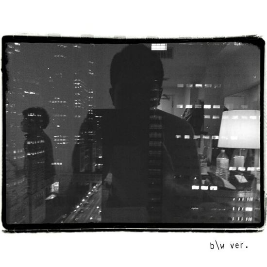 View from room, my son , me.   Mono Type Ver2   Sgs3 Bw Blackandwhite Shinjuku