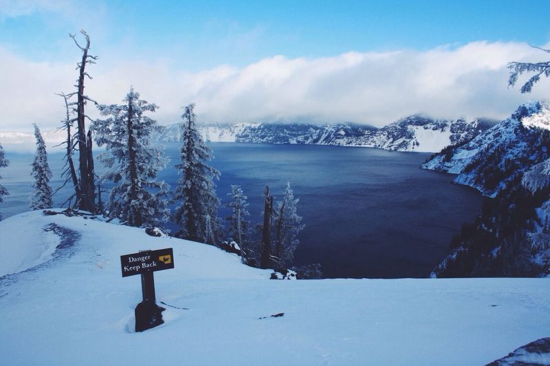 Not a bad place to spend Christmas! Christmas Volcano Snow Oregon
