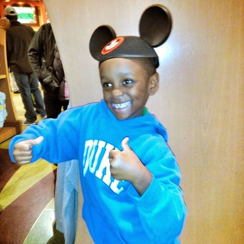 This smile on that face was priceless. My wife and I decided to take our whole family to DisneyWorld for NYE . That was by far the best decision EVER. DisneyKid Disney CutestKid Orlando LesterDunn JadenChristopher