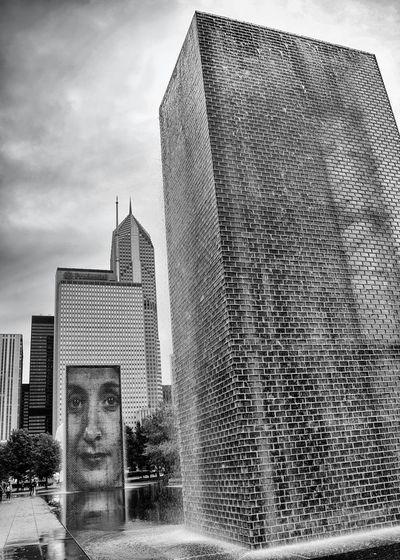 Shades Of Grey Chicago Modern Art Monochrome Millenium Park art installation at millenium park. Black And White Friday