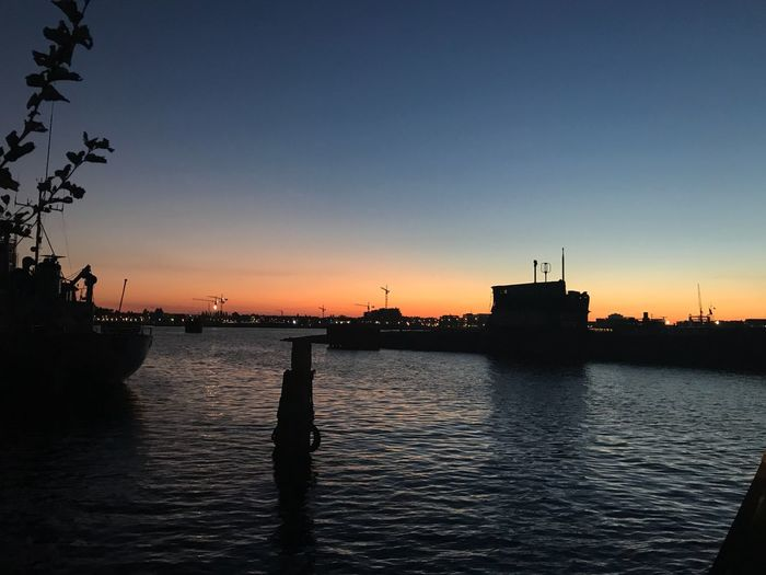 Sunset Silhouette Water Nautical Vessel No People Beauty In Nature Waterfront Nature Sea Sky Outdoors Scenics Clear Sky Amsterdam No Edit/no Filter Happiness Submarine Ferry Boat Water Reflections Harbor