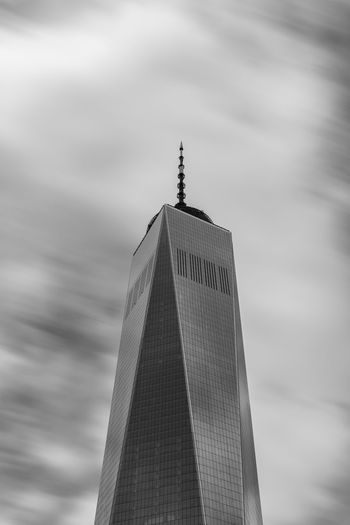 One EyeEmNewHere World Trade Center One World Trade Center Tower Tall - High Skyscraper Sky Newyork Modern Low Angle View Long Exposure Cloud - Sky City Built Structure Building Exterior Architecture World Trade Center New York New York City