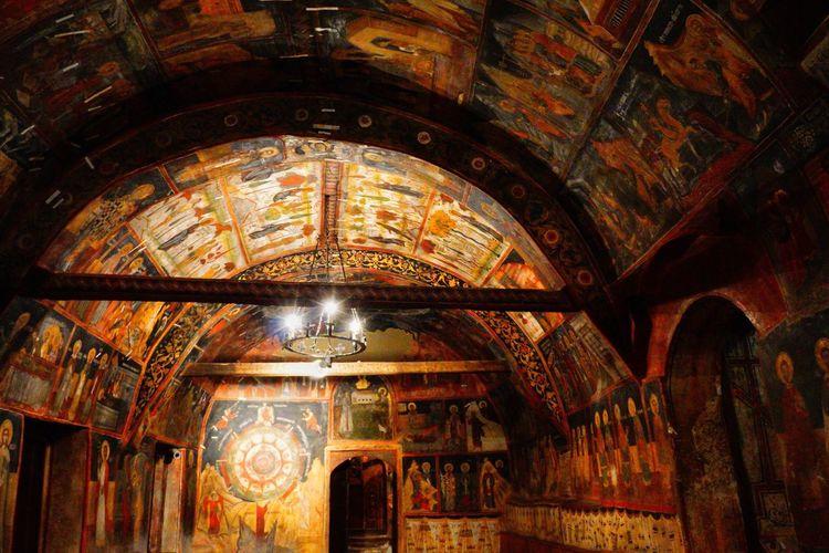 Nativity Church Arbanasi Village Bulgaria Historic Travel Traveling Europe Culture Fresco Mural Painted Nativity Church, Arbanasi historic village, Bulgaria