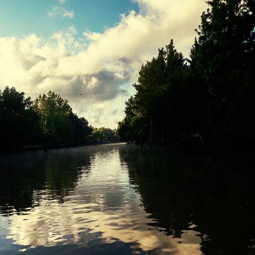 River Río Espera Tigre Delta Islas 1era Seccion Tree Water Lake Reflection Forest Sky Cloud - Sky Calm Tranquil Scene
