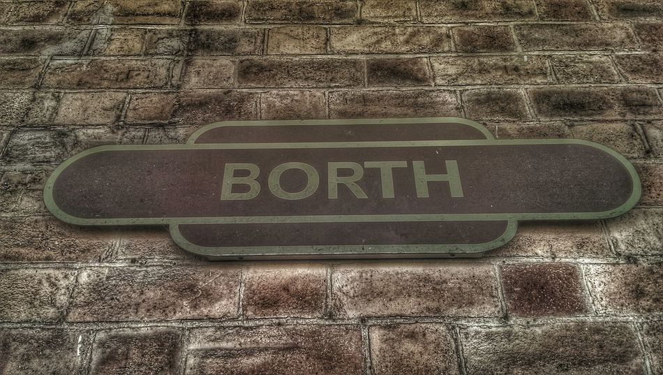 Public Transportation Train Station Borth, Wales Hinterland Train Station Platform Train Station Sign Love This Place ♥_♥