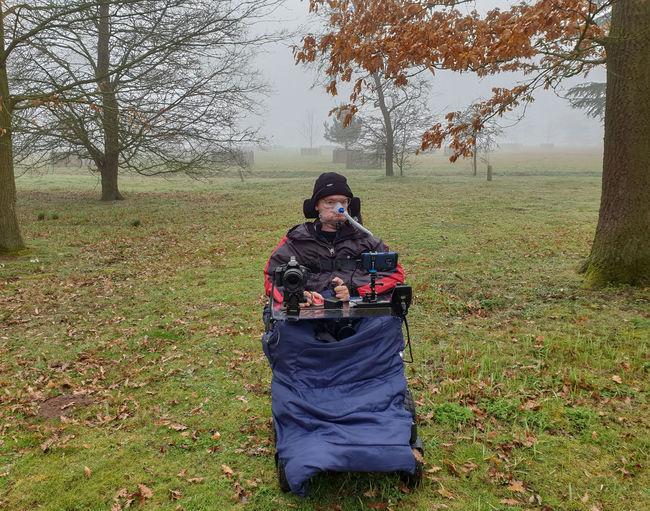 Croome Fog Mist Land Day Nature Leisure Activity Wheelchair Duchenne Smile Ventilator Men