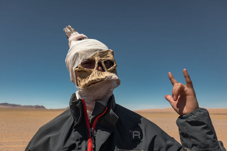 Mongolia Real People Sky One Person Headshot Lifestyles Portrait Leisure Activity Nature Day Sunlight Focus On Foreground Front View Men Clear Sky Land Casual Clothing Clothing Unrecognizable Person Glasses Outdoors Obscured Face The Portraitist - 2019 EyeEm Awards The Traveler - 2019 EyeEm Awards