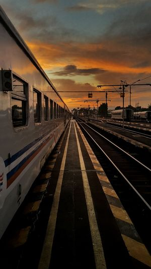 Sunset at Kutoarjo INDONESIA Train Travel Traveling Train Station Cities At Night @eyeem Landscape My Commute