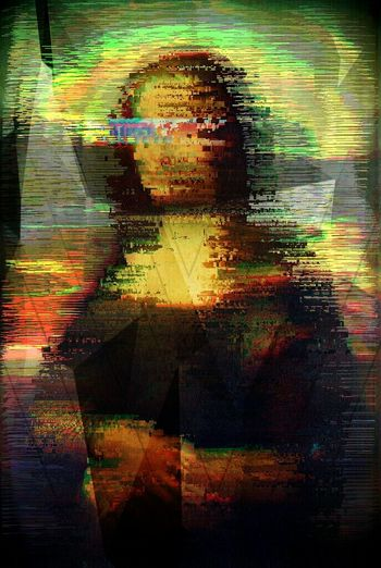 Mona lisa glitch Multi Colored Close-up People Portrait Glitch Glitchart Glitch Art 3D Mona Lisa Mona Lisa De Vinci De Vinci