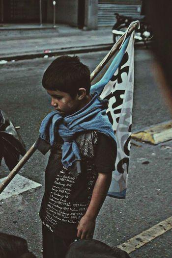 Hanging Out Taking Photos Manifestation Marcha Ni Una Menos Stop Violence Against Women!!! Ni Una Menos Buenosaires Kids Children