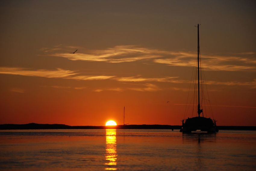 Sunset Water Sea Sky Beauty In Nature Nature Tranquility Waterfront Scenics Nautical Vessel No People Outdoors