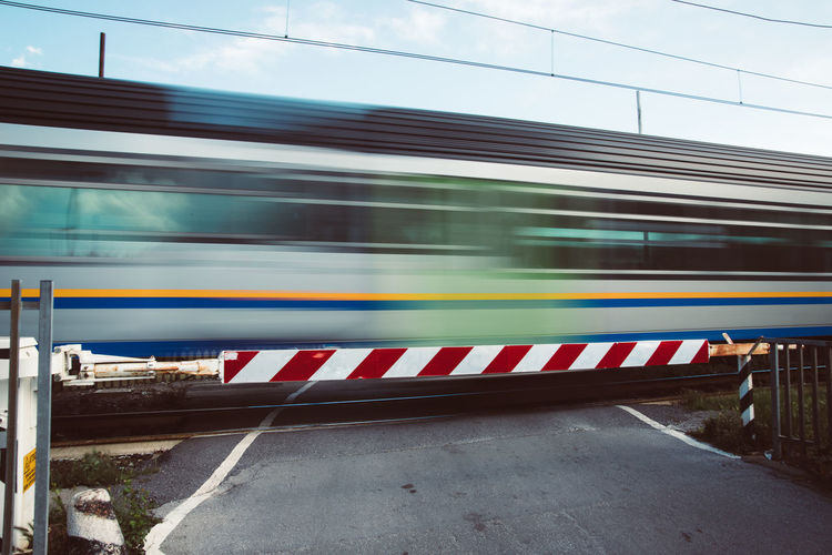 Transportation Mode Of Transportation Blurred Motion Motion Speed Train Public Transportation Rail Transportation Train - Vehicle Architecture No People Land Vehicle on the move Long Exposure Travel Day Built Structure Railroad Station Passenger Train Railroad Station Platform Outdoors