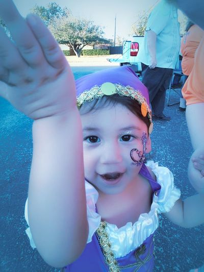 Child Close-up Outdoors Childhood Halloween Costume Fun My Heart Playing Happiness