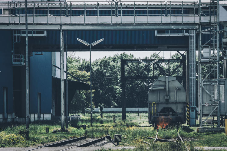 Alberner Hafen Architecture Blue And Green Day Fire Grass Industrial Industrial Architecture Industrial Area No People Outdoors Taking Photos Train Train Tracks Vienna Showcase June