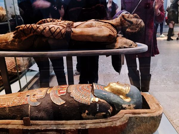 Mummy Pharaoh Coffins  Britishmuseum Museum Holborn London United Kingdom