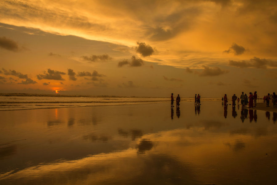Cox's Bazar Bangladesh Check This Out Hello World Beach Day People Outdoors Nature Backgrounds Water Horizon Over Water Beauty In Nature Bangladesh Sea Sunset Sky Colorful The Great Outdoors - 2017 EyeEm Awards