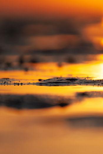 Close-up of orange sky during sunset