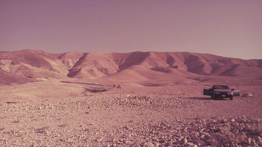 Scenic View Of Desert And Sand Dunes
