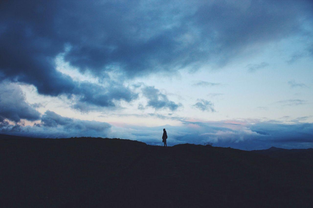 Cloud - Sky, Cloudy, Copy Space, Dusk, Hill