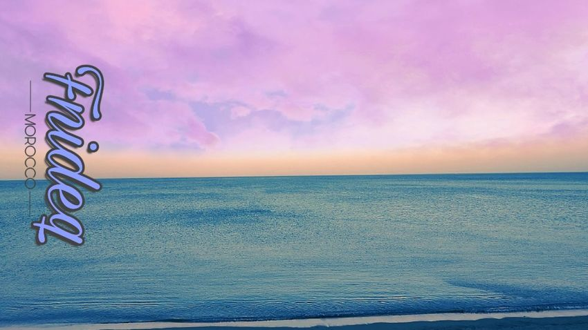 Sea Sunset Beach Backgrounds Blue Pastel Colored Pink Color Arts Culture And Entertainment Summer