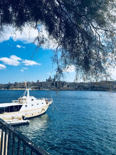 Malta Water Nature Sea Tree Day Outdoors Mode Of Transport Sky Blue Scenics No People Daylight Photography Daytime Photography Transportation Travel Destinations Valletta