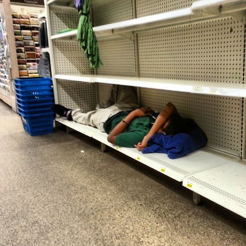 My job be having workers sleep on shelves. Lmao. Bronx NYC HardLabor RetailWork PlankingWhileSleeping StockingUpCoWorkersOnShelves LifeOfAHustler NapTime WheresHisBlanket OnSaleWhileSuppliesLast