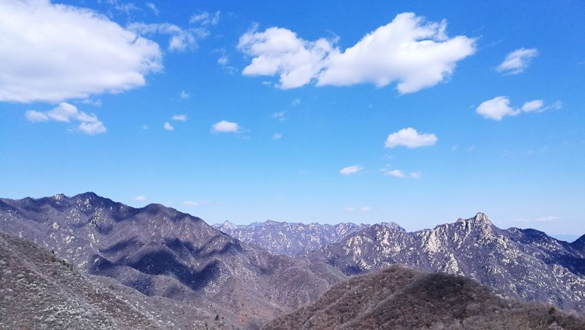 China Great Wall Mountain EyeEm Selects Mountain Cloud - Sky Blue Winter Outdoors Landscape Mountain Peak Cold Temperature No People Beauty In Nature Vacations Travel Destinations Mother Nature Beauty In Nature China