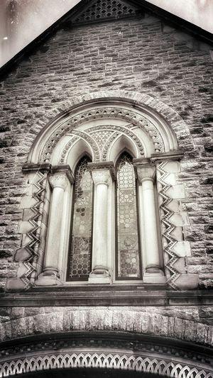 Stained Glass Window Stonework Pillars Chapel