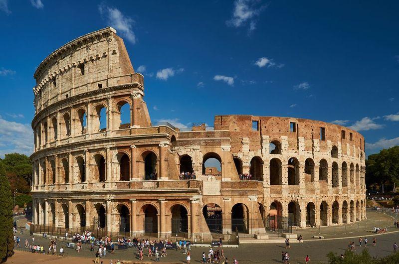 Colosseum against blue sky