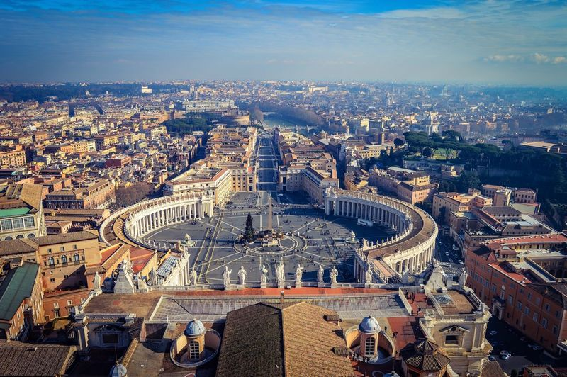 Plaza de San Pedro, Ciudad del Vaticano (Roma - Italy) Outdoors Travel Destinations Cityscape Tourism Travel Famous Place Horizon Culture Aerial View Monument Roma Italia Vaticano