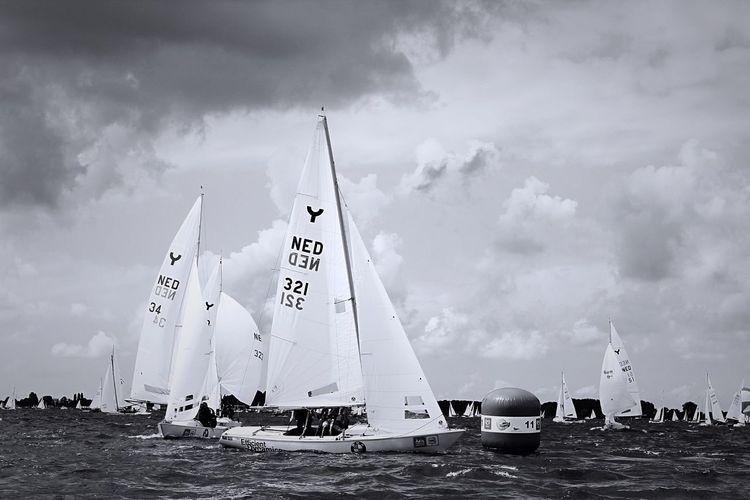 Sneekweek 2016 Sky Cloud - Sky Day Outdoors Nautical Vessel No People Sailboat Race Sailing