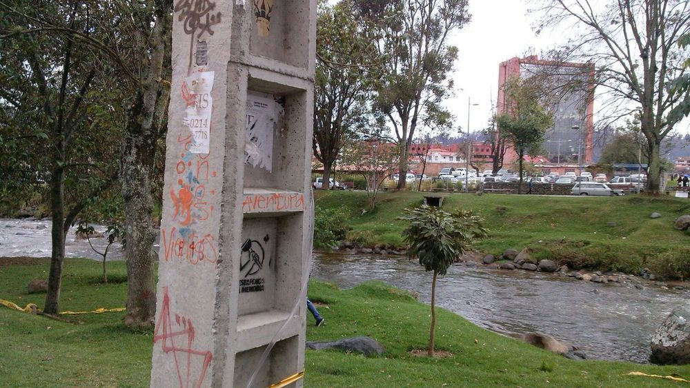 The other side to a wall Grafitti River Cityscape Walking Around The City  Visit Cuenca