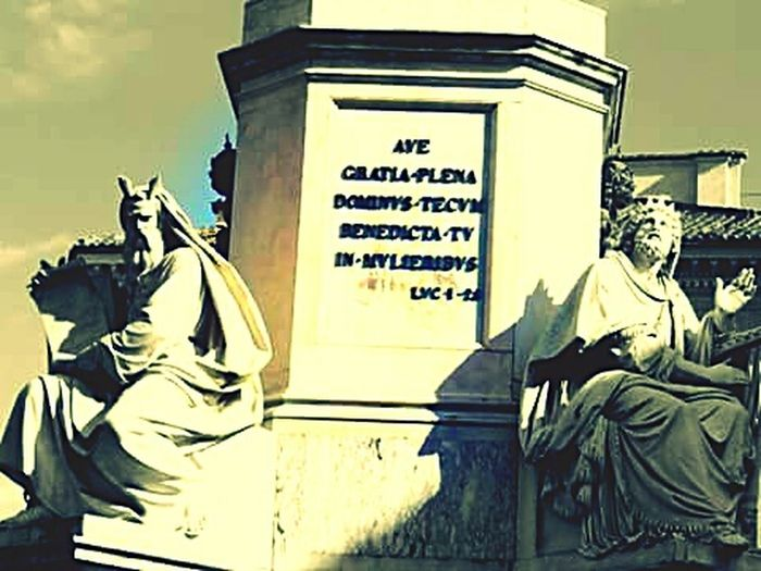 Statue Architecture History Sculpture Outdoors Built Structure Rome Italy Italia Roma Steps Street