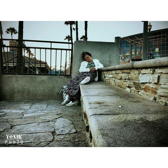 """""""Asian Lady"""" Asian  Lady ToxikPhoto Huntingtonbeach Sleep Beach California DigitalPhotography"""