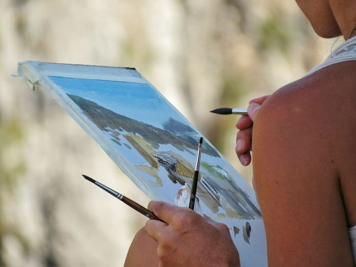 Painting Painting Art Guadelest Spain ✈️🇪🇸 One Person Adults Only One Man Only Holding People Adult Only Men Leisure Activity Day Men Spraying Real People Lifestyles Human Hand Outdoors Close-up Artist EyeEmNewHere EyeEm Gallery Human Body Part Nature The Week On EyeEm Press For Progress