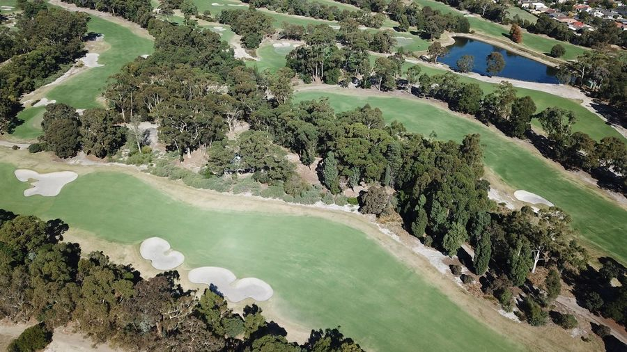 Taking Photos Grass Green Color Green Bunker Drone  Aerial Aerial View Sport Australia Golf Golf Course Tree Plant Water Beauty In Nature Green Color Nature Day High Angle View Tranquility Non-urban Scene Aerial View Outdoors Environment Scenics - Nature Land Tranquil Scene Growth Idyllic