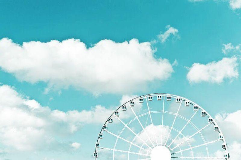 Hong Kong Observation Wheel Hong Kong Observation Wheel Observation Wheel Travel Travel Photography Sky Clouds And Sky Clouds