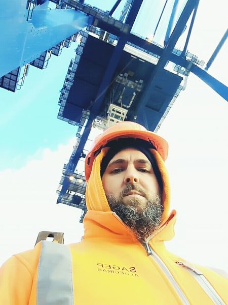 Día de frío Frozen Working Atwork Algeciras Estibador Andalucia Spain