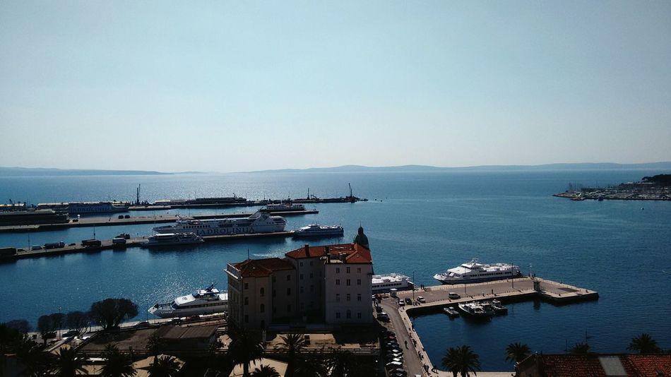 Blue Wave Beautiful Day Port Beautiful City Blue Sky Beautiful Sea Holiday Occasional Photography Beautiful Sea Viewpoint in Split, Croatia