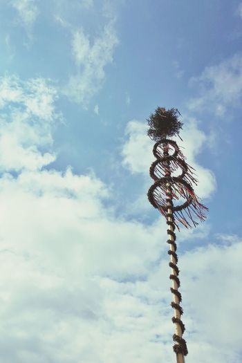Looking up… Maibaum in Schwendi-Hörenhausen. Maibaum Sky Cloud - Sky Low Angle View Day No People Outdoors
