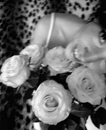 We look up at the same stars, and see such different things... One Person Flower Indoors  Close-up Flower Head Portrait Happiness Edits_bnw Enjoying Life Smiling Monochrome Bnw Captured Moment Fortheloveofblackandwhite Flowerporn Monochrome Photograhy Bw_collection Front View Bnw_collection Flower Collection EyeEm Best Shots - Black + White Women Of EyeEm Blackandwhite One Woman Only Roses