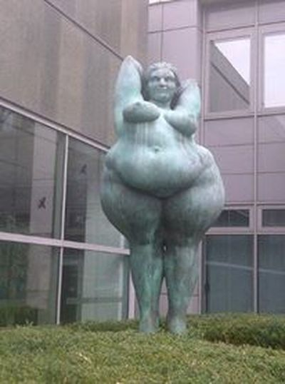 Day Military No People Obese Obese Woman Obesity Outdoors Sculpture Statue