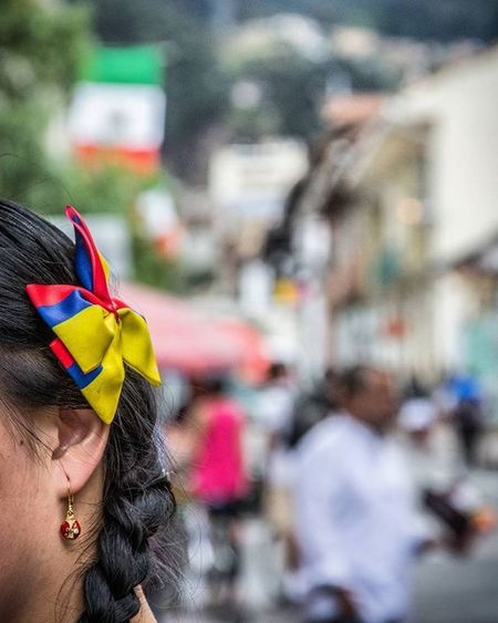 Colombian Woman Flag Patriots  Downtown Memories Bogotá Colombia OMDP 27 -365 IgColombia Ig_bogota_ Ig_colombia @colorsoftheweek @ig_colombia @igersbogota @igerscolombia
