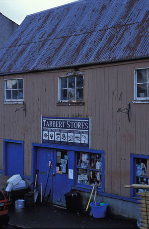 tarbert stores, on the isle of Harris (Gaelic Na Hearadh) Building Exterior Built Structure Corrugated Gaelic  Harris Hebridies Island Islandlife Isle Old Outer Hebrides Rusing Rust Scotland Stores Tarbert Tin Roof Uk Western Isles