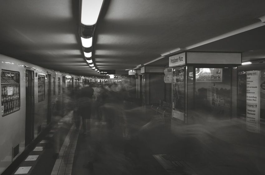 Urban ghosts. Bnw_friday_eyeemchallenge Mystery Open Edit Motion Blur Blackandwhite My Daily Commute My Fuckin Berlin Capturing Movement
